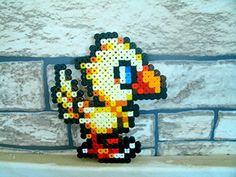 Sprite chocobo Final Fantasy • Hama Beads • Pixel Art