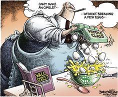 The Wall Street cook book By Ben Sargent #GoComics #PoliticalCartoon #WallStreet #Economy #MiddleClass #Politics