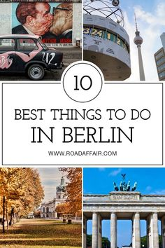 Discover the best things to do in Berlin, including the Museum Island, East Side Gallery, TV Tower, and Brandenburg Gate. Voyage Europe, Europe Travel Guide, Travel Destinations, Travel Guides, Berlin Travel, Germany Travel, European Destination, European Travel, Euro Travel