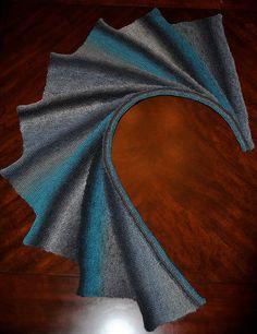 Hand Knit Wingspan Shawl