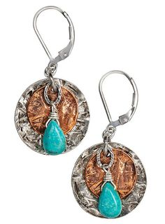 New earrings! - Silver and Copper Coin Earrings, $49.00 (http://shop.nmmagazine.com/silver-and-copper-coin-earrings/)