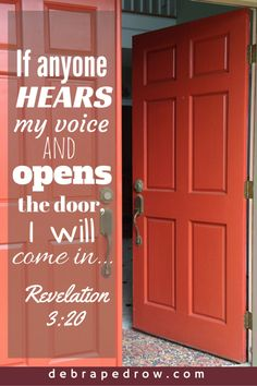 Here I am! I stand at the door and knock. If anyone hears my voice and opens the door, I will come in...Revelation 3:20 #LiftHimUp