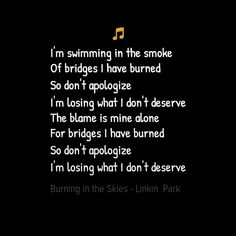 Burning in the skies - Linkin Park