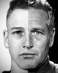 #PaulNewman aged approximately 30 years. The left photo was taken when he was 18 years old and about to join the Navy. The right photo was taken when he was in his late 40s. Although there is no question Paul Newman was handsome no matter what his age, there are apparent differences between the split images. There are deep creases on his forehead, thinning of the lips, more marked atrophy in the tear troughs, heavier eyelids, hollowing of the cheeks, and jowling. #laskinaesthetics #LASATT