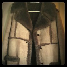 Authentic Shearling coat Vintage shearling coat, boho chic, has a rip left side under pocket, bought of a fellow posher for $65 - never worn Jackets & Coats