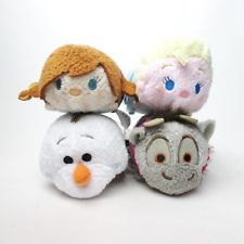 Disney TSUM TSUM Plush toy FROZEN Anna Elsa Olaf Sven set JAPAN
