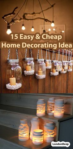 15 Easy & Cheap Home Decorating Ideas #easyhomedecor