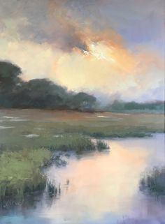 jacki newell - Portfolio of Works: Available Paintings - Painting Ideas - Landscape Artwork, Abstract Landscape Painting, Cool Landscapes, Watercolor Landscape, Watercolor Art, Landscape Lighting, Paintings Of Landscapes, Landscapes To Paint, Painting Trees