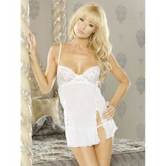 Fantasy embroidered see through babydoll and g-string set £26.99