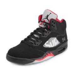 Nike Mens Air Jordan 5 Retro Supreme Black/White-Varsity Red 824371-001  Size 14
