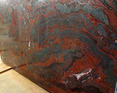 Iron Red granite, countertop