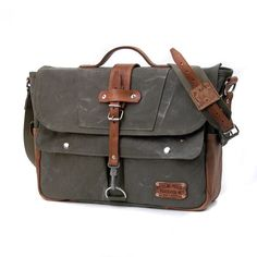 Recycled German Kitbag Canvas Messenger // by peace4youBAGS…