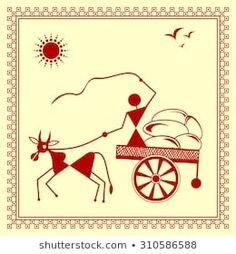 Find Indian Tribal Painting Warli Painting stock images in HD and millions of other royalty-free stock photos, illustrations and vectors in the Shutterstock collection. Bubble Painting, Diy Wall Painting, Fabric Painting, Madhubani Art, Madhubani Painting, Mini Canvas Art, Indian Folk Art, Indian Art Paintings, Art N Craft