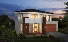 Metricon Home Designs: The Phoenix - Nuvo Facade. Visit www.localbuilders.com.au/builders_nsw.htm to find your ideal home design in New South Wales
