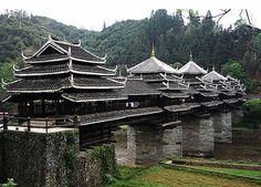 The Dong Bridge : Wind and Rain Bridge - China