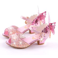 Girls' Microfiber Sandals Little / Big ) Comfort / Novelty / Flower Girl Shoes Walking Shoes Bowknot White / Blue / Pink Summer / Fall / Wedding / Party & Evening / Peep Toe, Cheap Girls Shoes, Kid Shoes, Shoes For Little Girls, Flower Girl Shoes, Flower Girl Dresses, Kids Sandals, Shoes Sandals, Summer Sandals, Dress Shoes