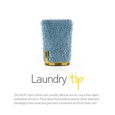 ENJO Fabric Glove - Laundry Tip. Chemical Free Cleaning, Roof Ideas, Red Roof, Laundry Hacks, Leather Furniture, Natural Cleaning Products, Organising, Household Tips, Health Remedies