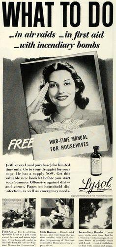 1942 Ad Lysol Disinfectant