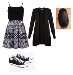 .... by elainia on Polyvore featuring polyvore FRACOMINA Monsoon Converse fashion style clothing