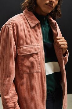 UO Ryder Corduroy Zip-Up Shirt   Urban Outfitters