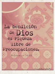 La bendicion de Dios...