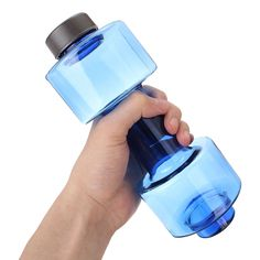 4b9fb4db42 550ml Dumbbell Shaped Sport Travel Water Drink Bottle Fitness Gym Exercise  Cup Water Bottle / Blue