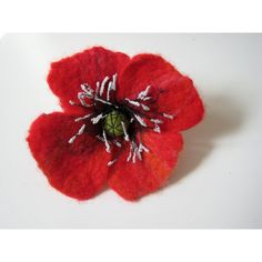 Poppy brooch, felt jewelry, gift for her, red, floral, red pin flower,... (640 UAH) ❤ liked on Polyvore featuring jewelry, brooches, red flower brooch, blossom jewelry, flower brooch, pin brooch and felt jewelry