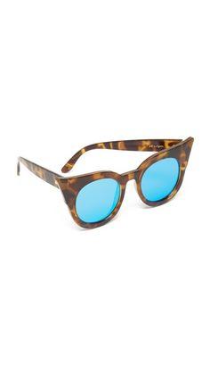 Le Specs Flashy Flat Lens Mirrored Sunglasses Le Specs Sunglasses, Tortoise Shell Sunglasses, Polarized Sunglasses, Mirrored Sunglasses, Tortoise Cat, Cat Eye Frames, Cat Eye Glasses, Eyewear, Lenses