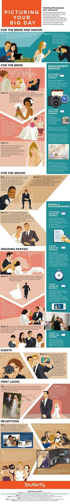Plan Out a Picture Perfect Wedding Day With These Handy Photography Tips (INFOGRAPHIC) #weddingplanninginfographic #weddinginfographic #weddingphotography