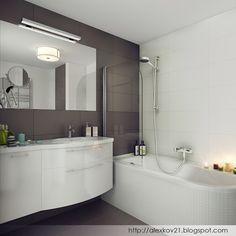 """Дизайн-бюро """"Двоеточие"""": Ванная. Скандинавский стиль"""