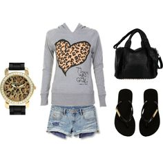 Leopard..instead of shorts id do cumfy black pants..or yoga