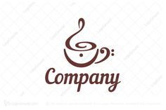 Logo for sale: Musical Note Symbol Cafe Logo. Coffee cup built of subtle treble clef , bass clef and fermata below . Suitable for a cafe which has live band performance. The symbol itself will looks nice as social media avatar and website or mobile icon . music group drink relaxing blues logo logos logo logos rhythm entertainment tea playing coffeehouse bar bistro brasserie teashop coffeeshop house bistro dj R&B coffee kios  jazz pop rock singer musician musicians