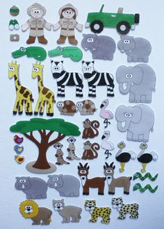 Safari Adventure - Print and Play Felt Figures