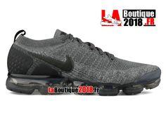 big sale 75241 50e52 Nike Air VaporMax Flyknit 2 Dark Grey 942842-002 Chaussure de Running Nike  Pas Cher Pour Homme