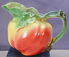 Royal Bayreuth Figural Apple Milk Pitcher