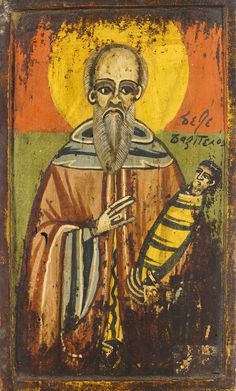 Detailed view: Saint Stylianos- exhibited at the Temple Gallery, specialists in Russian icons Russian Icons, Orthodox Icons, Illuminated Manuscript, Byzantine, Saints, Objects, Mosaics, Gallery, Temple