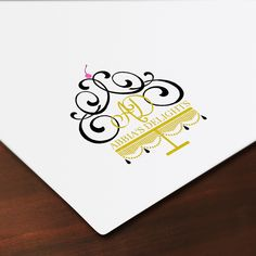 Custom Logo Design for our client Abbia's Delights! A Houston based boutique Bakery..