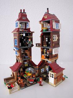 The Burrow - Harry Potter Lego Lego Harry Potter, The Burrow Harry Potter, Legos, Moc Lego, Pokemon Lego, Le Terrier, Modele Lego, Lego Craft, Cool Lego Creations