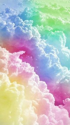 Colourful rainbow clouds smartphone wallpaper - samsung galaxy or apple iphone cute wallpapers, pretty backgrounds Unicornios Wallpaper, Rainbow Wallpaper, Cute Wallpaper Backgrounds, Pretty Wallpapers, Wallpaper Iphone Cute, Tumblr Wallpaper, Aesthetic Iphone Wallpaper, Galaxy Wallpaper, Colorful Wallpaper