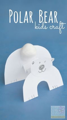 Polar Bear kids craft to celebrate International Polar Bear Day | Brie Brie Blooms