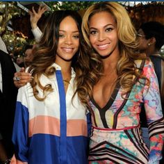 Beyonce and Rihanna at the Grammys