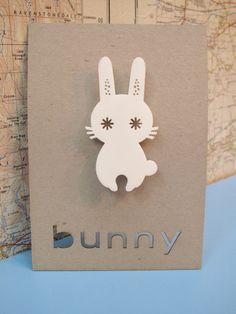 Image transfer inspiration Laser+cut+retro+bunny+brooch+by+PeggyPoppletonsShop+on+Etsy,+£9.00