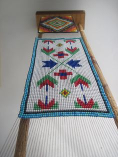 Pachamama Native Art, Beaded Panels on a loom, Custom order to Japan. Visit https://www.etsy.com/shop/pachamamanativeart for more loom work or to contact us about custom ordering.