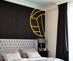 Waterpolo Balll Lines Wall Decal