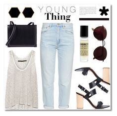 """""""Young love"""" by vigilexi ❤ liked on Polyvore featuring Enza Costa, M.i.h Jeans, 10 Crosby Derek Lam, Alexander Wang, Le Labo, Ray-Ban and Janna Conner Designs"""