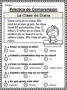 20 Spanish Reading Comprehension Stories comprensión by The Bilingual Hut Reading Comprehension Activities, Reading Passages, Teaching Reading, Comprehension Strategies, Spanish Classroom Activities, Spanish Teaching Resources, Kindergarten Curriculum, Spanish Lessons For Kids, Learn Spanish