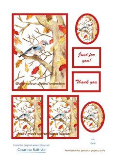 Jay Digital Card. Papier imprimable. Papier d'artisanat, Carte de voeux, Carte postale, Ephemera, Junk Journal, Collage, Scrapbooking, Découplage Collage, Scrapbooking, Art Projects, My Etsy Shop, Just For You, Clip Art, Watercolor, The Originals, Junk Journal