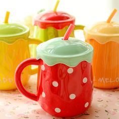New arrival KEYAMA 1pcs Creative fruit ceramic breakfast milk mugs with lid with spoon Couples coffee cups Cute holiday gifts -in Mugs from Home & Garden on Aliexpress.com | Alibaba Group