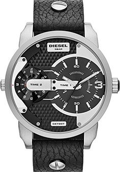 Diesel Herren-Armbanduhr Mini Daddy Analog Quarz Leder DZ7307 - http://uhr.haus/diesel/diesel-herren-armbanduhr-mini-daddy-analog-quarz