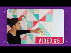 Garden Confetti Quilt Along - Crafty Gemini Quilting Tutorials, Sewing Tutorials, Sewing Ideas, Quilting Ideas, Crafty Gemini, Puff Quilt, Patchwork Tutorial, Video 4, Craft Videos